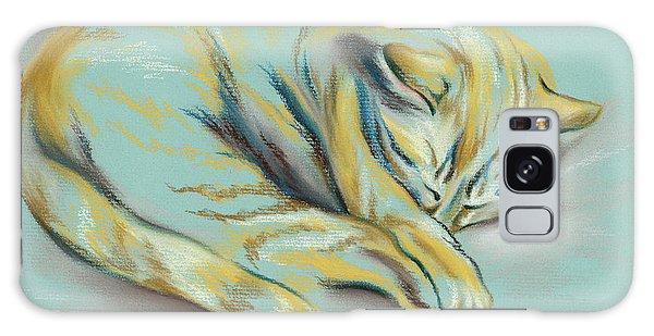 Sleeping Tabby Kitten Galaxy Case