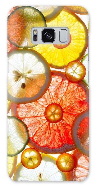 Tasty Galaxy Case - Sliced Citrus Fruits Background by Gaak