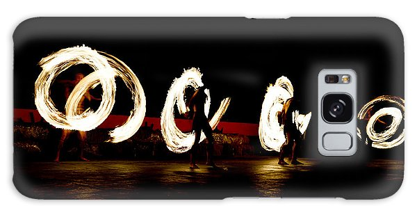 Long Exposure Galaxy Case - Slow Shutter Speed Of Fire Show by The Sun Photo