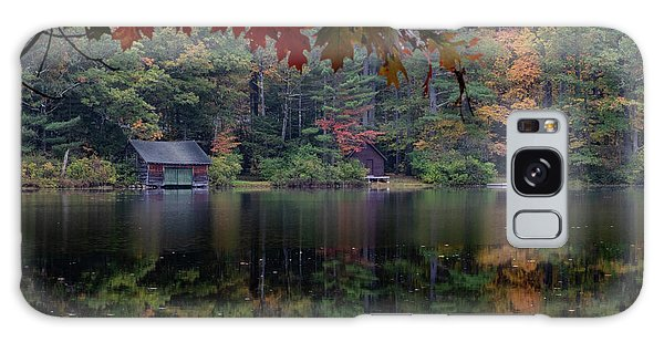Small Pond New Hampshire Autumn Galaxy Case