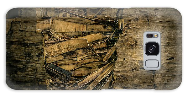 Smashed Wooden Wall Galaxy Case