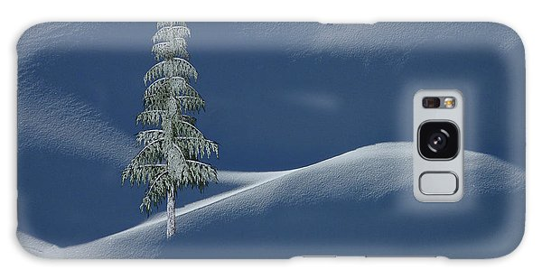 Snow Covered Tree And Mountains Color Galaxy Case