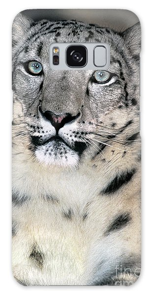 Snow Leopard Portrait Endangered Species Wildlife Rescue Galaxy Case
