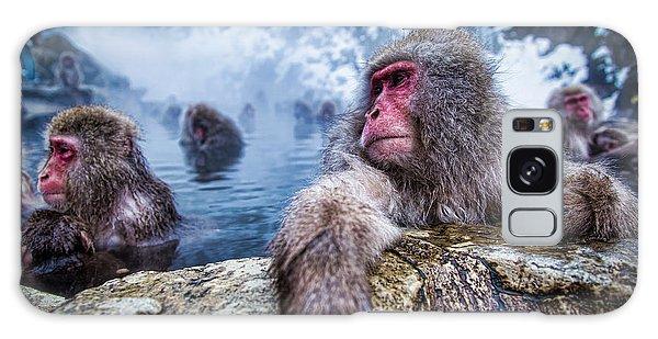 Bath Galaxy Case - Snow Monkey by Structuresxx