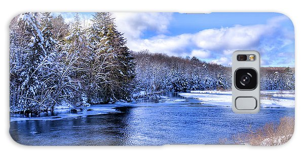 Galaxy Case featuring the photograph Snowy Banks Of The Moose River by David Patterson