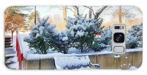 Snowy Bench Galaxy Case