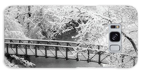 Snowy Bridge On Mill Creek Galaxy Case