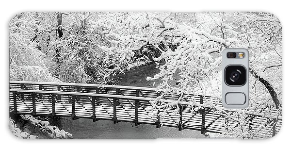 Snowy Bridge On Mill Creek Galaxy Case