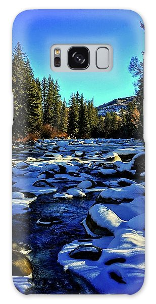 Galaxy Case featuring the photograph Snowy Eagle River by Dan Miller