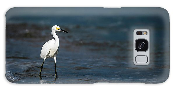 Egret Galaxy Case - Snowy In The Surf by Marvin Spates
