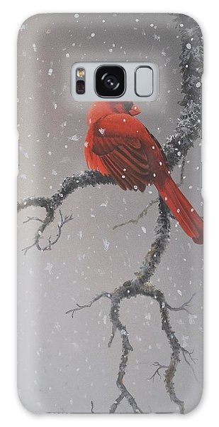 Snowy Perch Galaxy Case