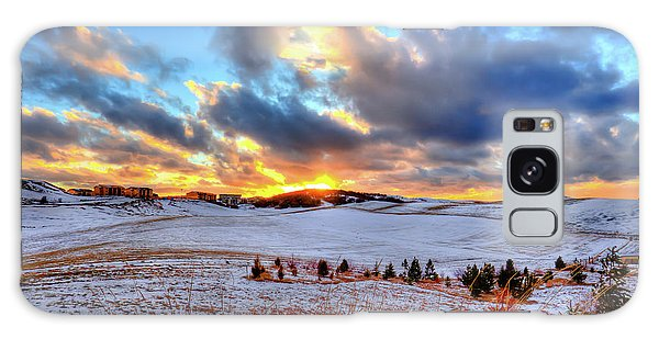 Galaxy Case featuring the photograph Snowy Sunset by David Patterson