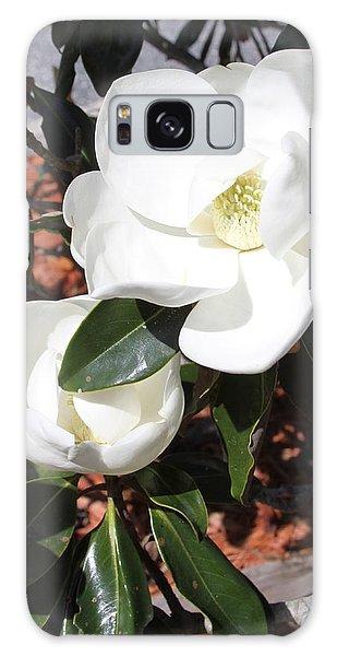 Snowy White Gardenia Blossoms Galaxy Case