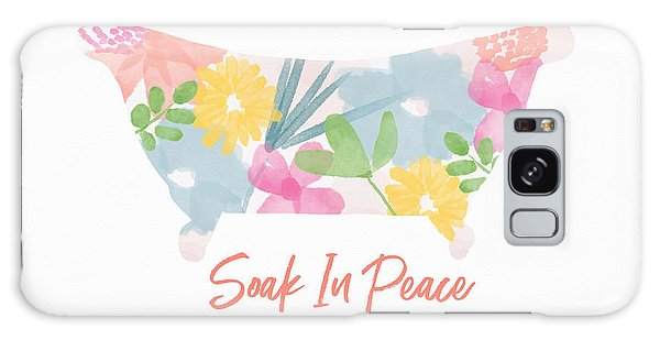 Galaxy Case featuring the mixed media Soak In Peace- Art By Linda Woods by Linda Woods