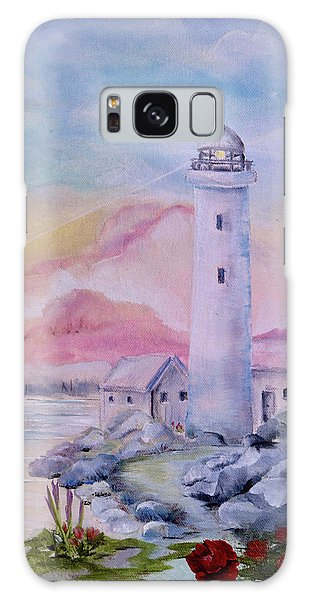 Soft Lighthouse Galaxy Case
