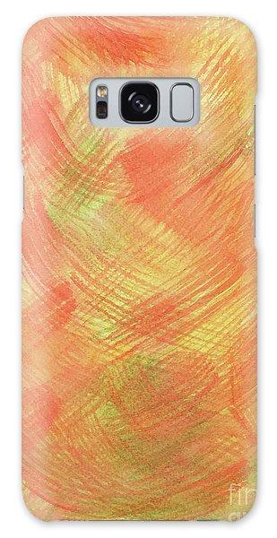 Soft Orange Colors 2 Galaxy Case