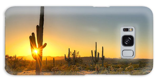 Southwest Usa Galaxy Case - Sonoran Desert Catching Days Last Rays by Anton Foltin