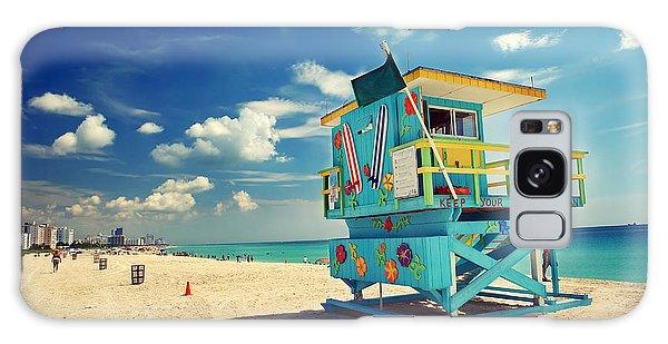Swimming Galaxy Case - South Beach In Miami, Florida by S.borisov