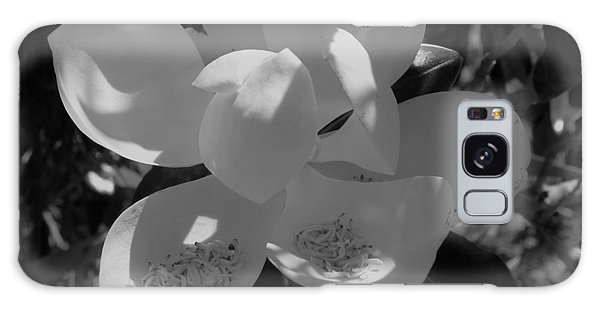 Southern Magnolia In Black And White Galaxy Case