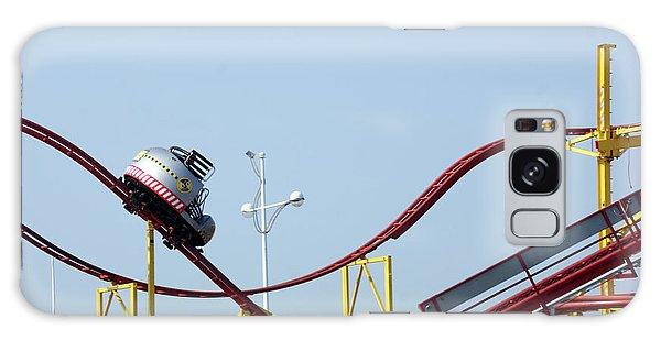 Southport.  The Fairground. Crash Test Ride. Galaxy Case