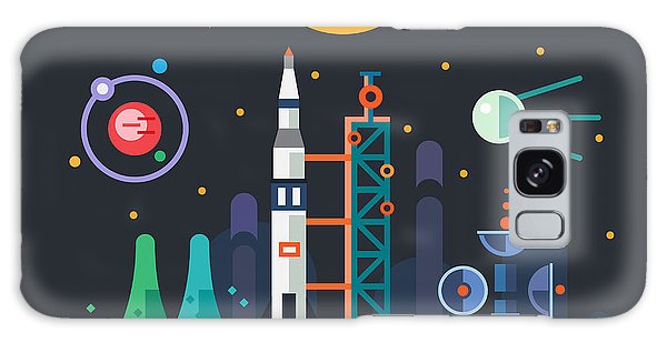 Spaceship Galaxy Case - Space Landscape, Rocket Launch On The by Beresnev