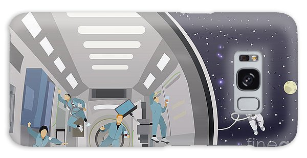 Spaceship Galaxy Case - Space Mission Concept Vector by Skypics Studio