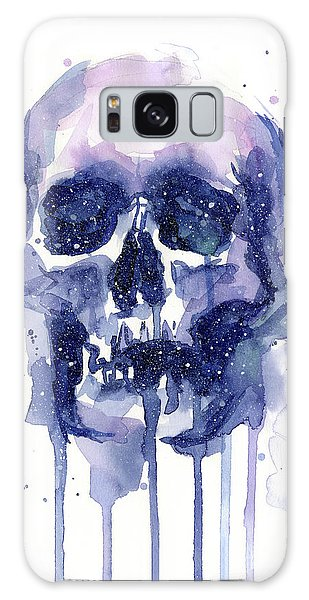 Galaxy Galaxy Case - Space Skull by Olga Shvartsur