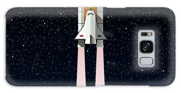 Spaceship Galaxy Case - Spaceship. Flying A Spaceship In Outer by Kolo