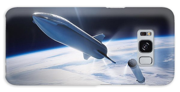 Milky Way Galaxy Case - Spacex Bfr Leaving Earth by Filip Hellman