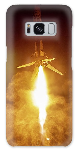 Milky Way Galaxy Case - Spacex Falcon 9 Booster Landing At Night by Filip Hellman