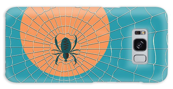 Outer Space Galaxy Case - Spider In A Web On A Background Of The by Zhukov