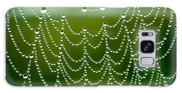 Water Droplets Galaxy Case - Spider Net With Water Drops by Ubc Stock