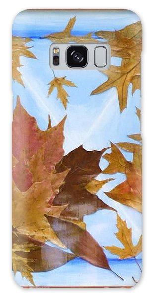 Splattered Leaves Galaxy Case