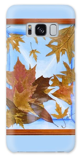 Splattered Leaves Galaxy Case