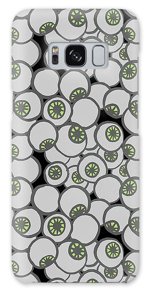 Spooky Eyeball Halloween Pattern Galaxy Case