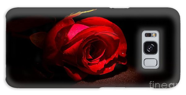 Conyers Galaxy Case - Spotlight Shines On Red Rose by Cory Brewington