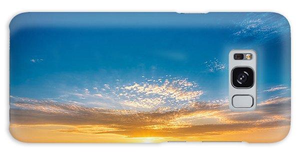 Cloudscape Galaxy Case - Spring Field Meadow Road Under Sunset by Grisha Bruev