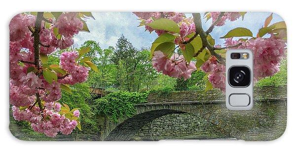 Spring Garden On The Bridge  Galaxy Case