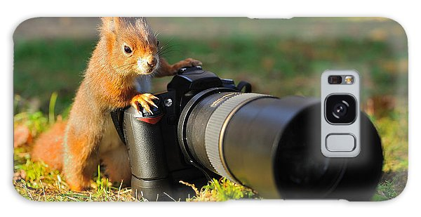 Technology Galaxy Case - Squirrel As A Photographer With Big by Stanislav Duben