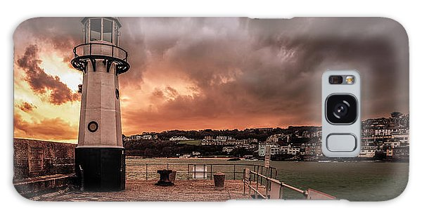 St Ives Cornwall - Lighthouse Sunset Galaxy Case