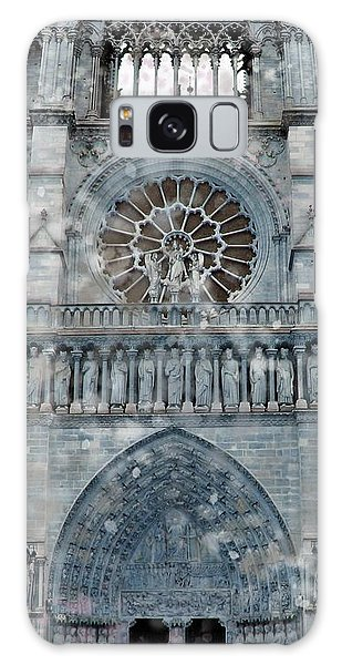 St Joan Of Arc Watch Over Notre Dame Galaxy Case