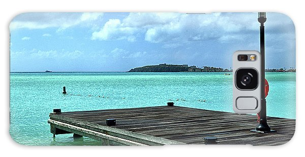 Galaxy Case featuring the photograph St. Maarten Pier In Aqua Caribbean Waters by Bill Swartwout Fine Art Photography