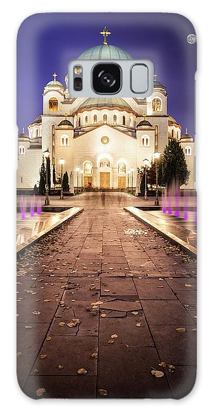 St. Sava Temple In Belgrade Nightscape Galaxy Case