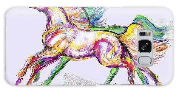 Crayon Bright Horses Galaxy Case
