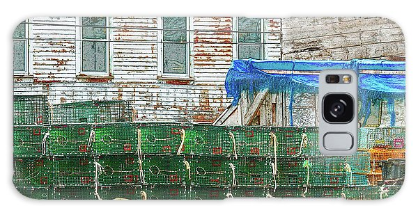 Stacked Lobster Traps Galaxy Case