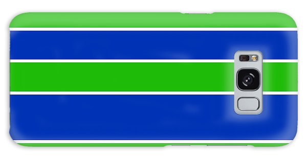 Stacked - Navy, White, And Lime Green Galaxy Case