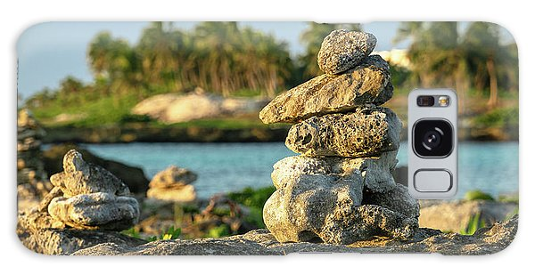 Stacked Rocks On Mexico Beach Galaxy Case