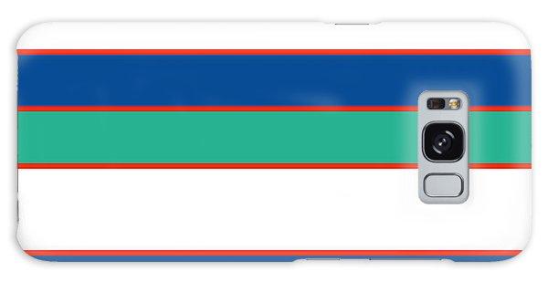 Stacked - Sea Foam, Orange, Navy And White Galaxy Case