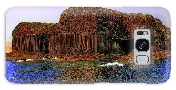 Staffa And Fingal's Cave - Scotland - Sunset Galaxy Case