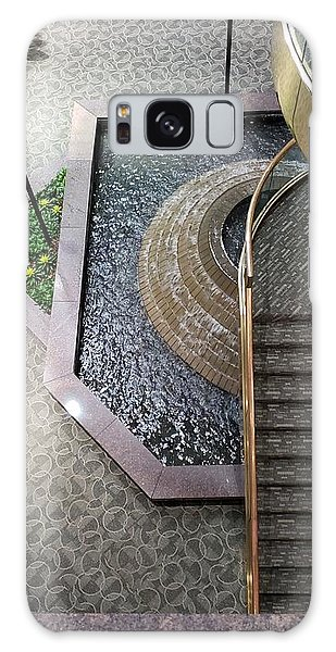 Stairs And Fountain  Galaxy Case